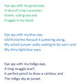 Benedict's  rainbow poem