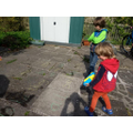 Outdoors tricky words practise.