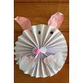 Folded paper bunny