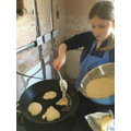 Frying pancakes