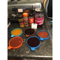 Making paint with spices