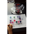 Violet and Benedict testing for acids and alkaline