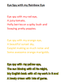 Violet's rainbow poem