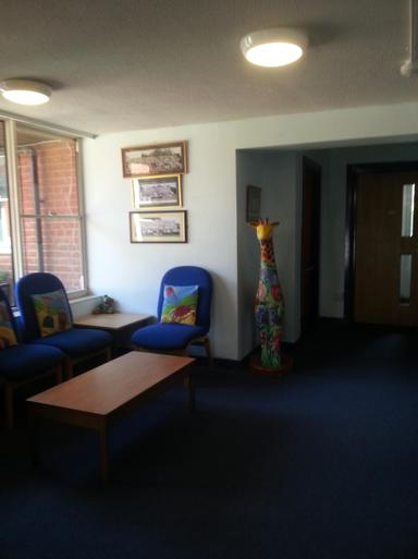 Our spacious reception area