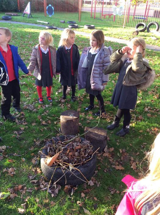 We made a bonfire and sang songs