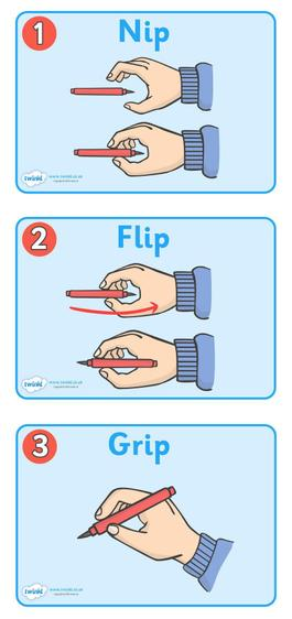 Follow these steps to make sure that you are holding your pencil correctly.
