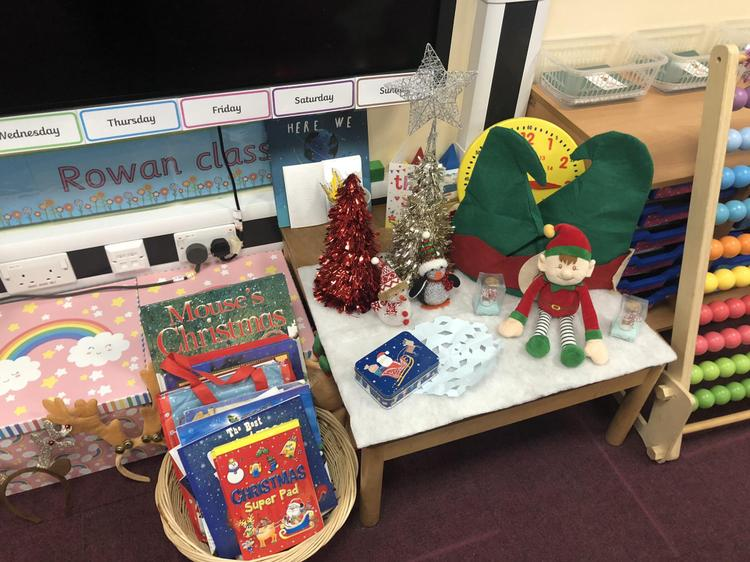 Buddy the Elf brought us lots of lovely Christmas books to read!