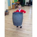 The dolly tub was heavy to lift!