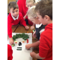 Working as a team to create an 'Arcimboldo' pic.