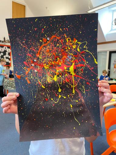 Miss Thwaites class did Art on Thursday - here is someone's art work