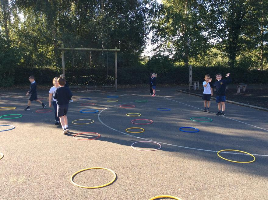 We tried to find our way through an obstacle course with our eyes closed!