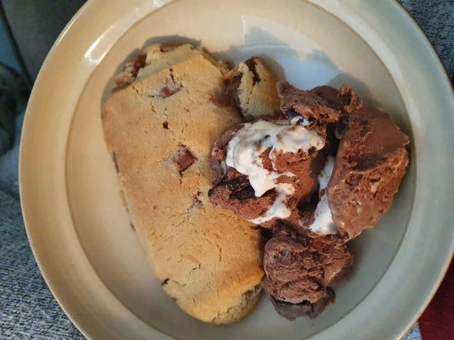 My favourite cookie dough and chocolate ice cream