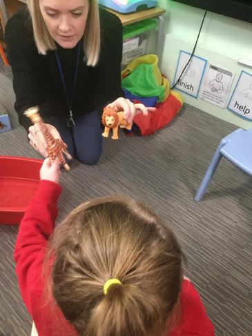Encouraging choices through speech and language activities,