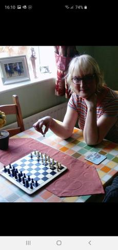 Val  getting better at chess