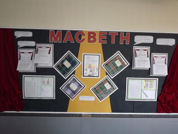 Y6's work on Macbeth.