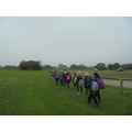 Children walked to St Oswald's Church.