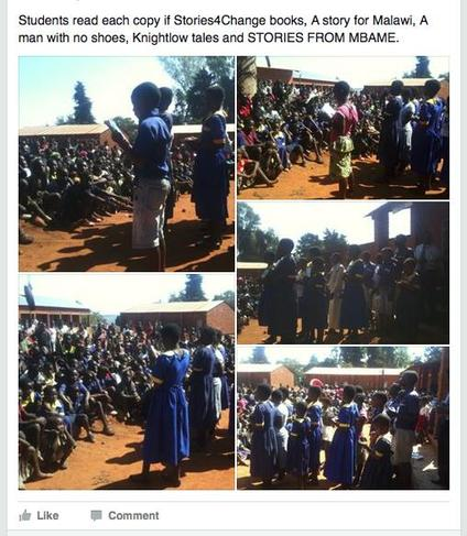 Mbame School  in Malawi having their own book launch event