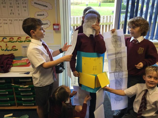 We retold the Iron Man, as we really enjoyed reading this book.