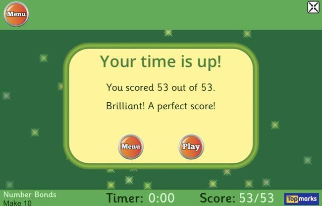 Miss Wilby's score