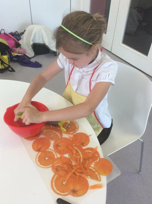 Ruby grating carrots