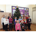 Star of the week children in their Xmas jumpers.