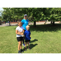 Hallie and Lukas, Doniford House Captains with Mr Harrison