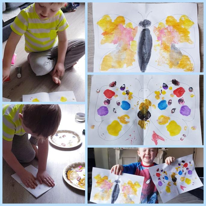 Daniel's butterfly painting