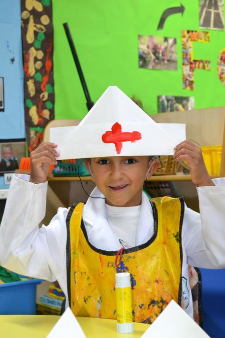 Folded nurses' hats