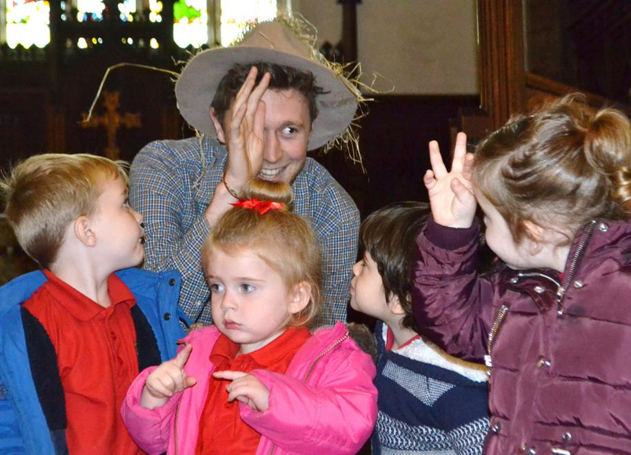 The Dingle Dangle Scarecrow & our Nursery children
