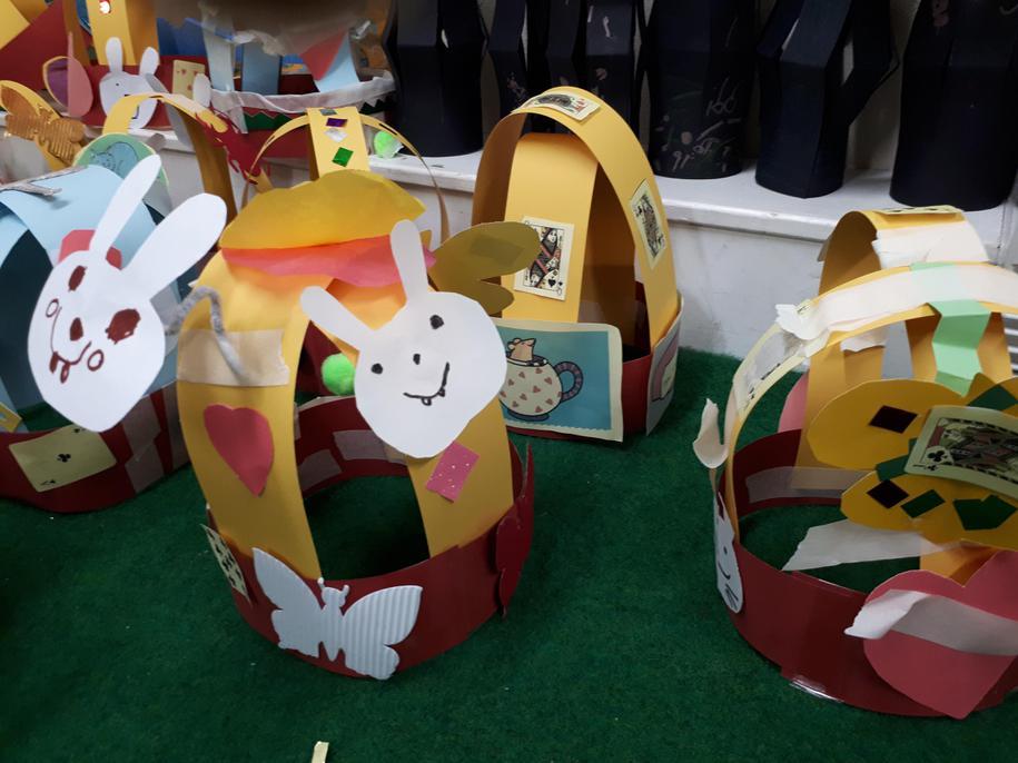 White Rabbit hats in Reception