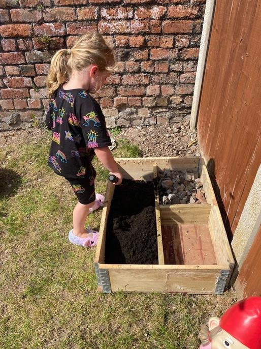 Lottie has been growing plants.