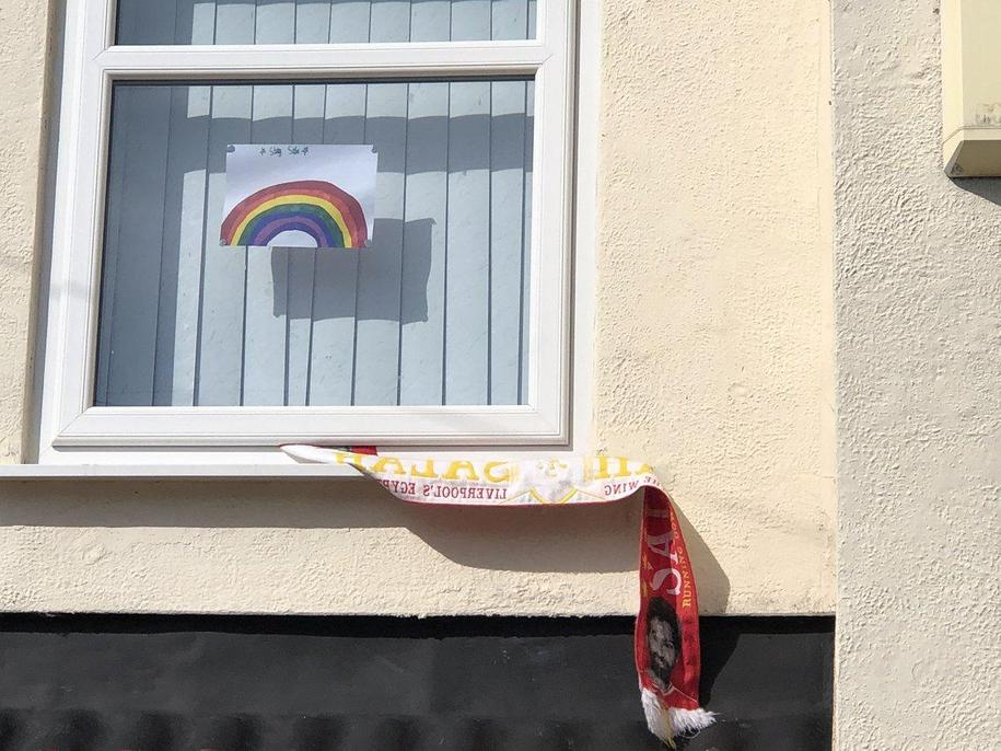 Christy's rainbow of hope.