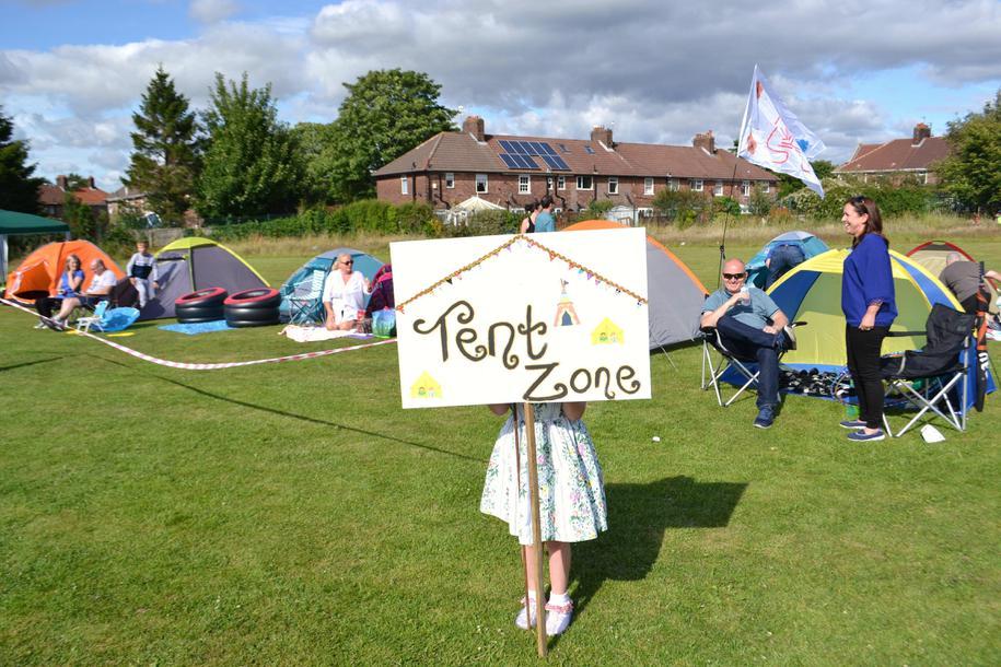Tent zone
