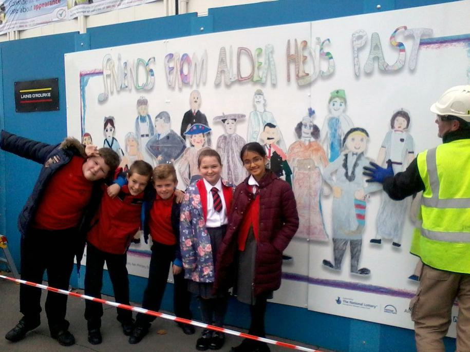 Our mural outside Alder Hey