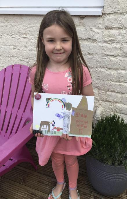 Great picture made from recycled materials Emma!