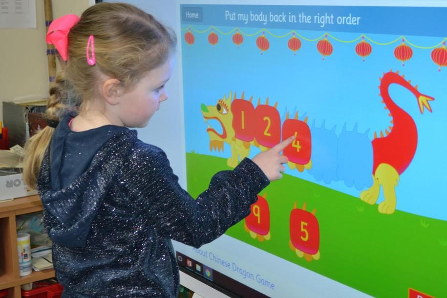 Ordering numbers on the Chinese dragon