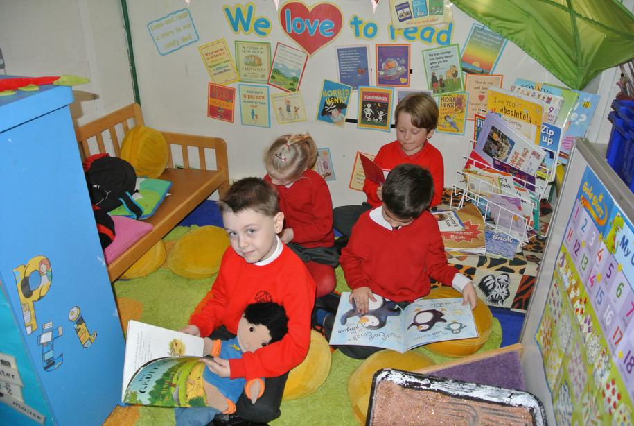 We love reading in our reading corner.