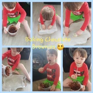 Daniel is making chocolate brownies.