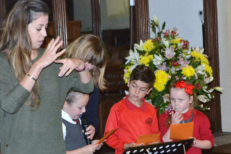 Speakers from y3 sharing the harvest readings