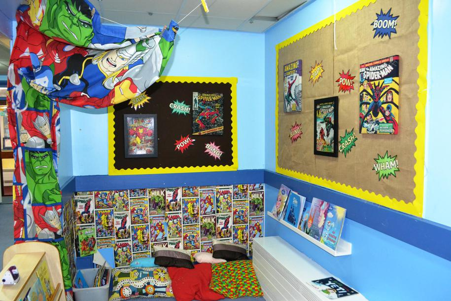 All of our classes have a reading area