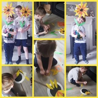 Daniel and Michael's lovely sunflowers.
