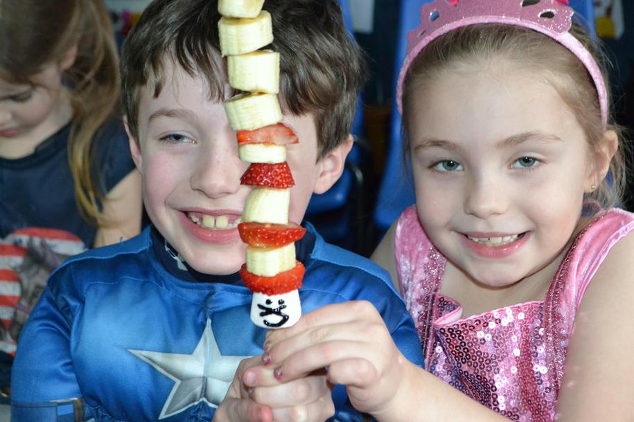 Cat in the Hat Fruit Kebabs!