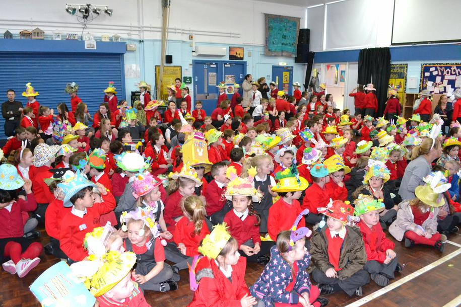 A hall full of Easter bonnets
