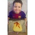 Jayden's Volcano cake