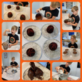 William's tasty Volcano cakes!