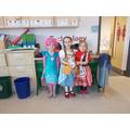 They have enjoyed dressing up.