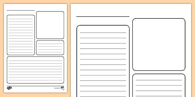 Example of a layout for a fact file - or you can create your own!