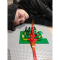 Aidan's lego volcano.