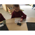 Learning to count to 5 using a 5 frame