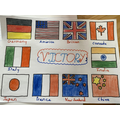 Seth's flags showing all the countries involved.